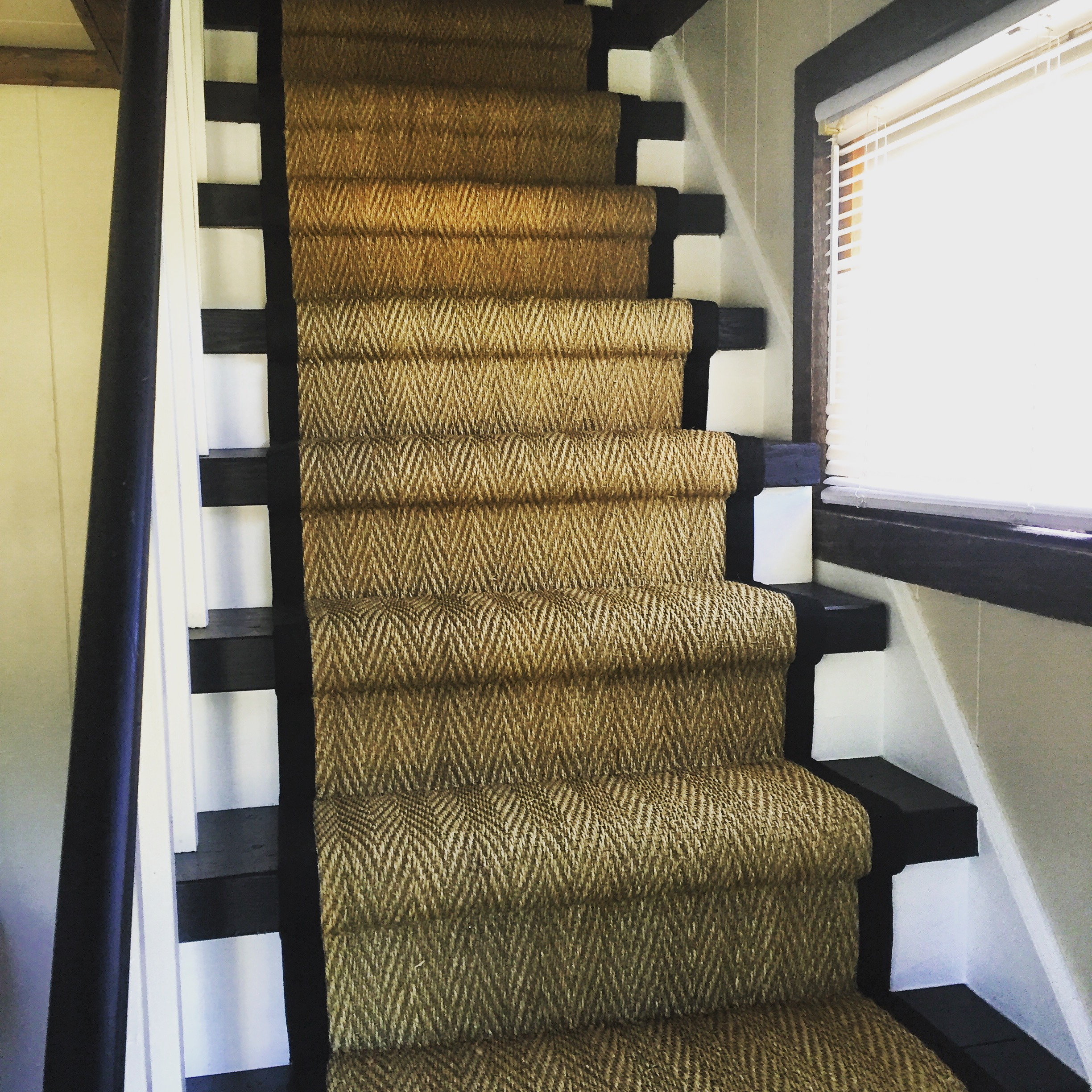 Seagrass Sisal On Staircase Seagrass Sisal On Staircase With Wide Binding  ...