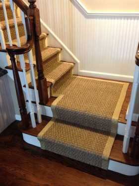 seagrass sisal on staircase