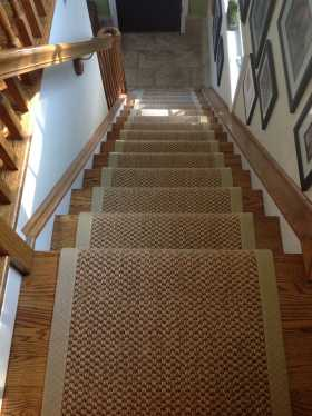 mani sisal runner with wide microfiber binding