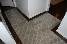 nourison broadloom fitted into hallway runner